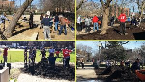 Wicker Park Advisory Council Earth Day Mulch Day Dog Park Cleaning 1920X1080